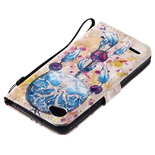 LG Q6móvil, cowx Teléfono Móvil para LG Q6funda piel Flip case cartera funda carcasa para LG Q6funda Cover Campagnolo nula (K383)