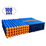100 nerf gun bullets - 100 Pcs Refill Bullet 7.2cm Blue Foam Darts for Nerf N-strike Elite Series Blasters Kid Toy Gun