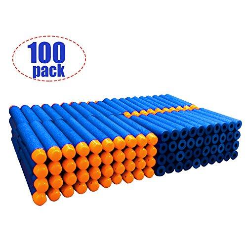100 Pcs Refill Bullet 7.2cm Blue Foam Darts for Nerf N-strike Elite Series Blasters Kid Toy Gun