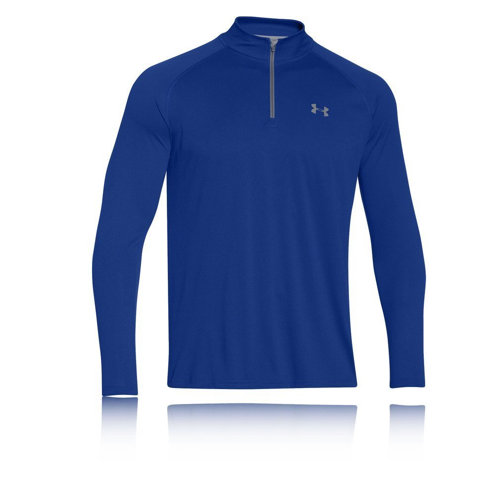 Under Armour Men's Tech 1/4 Zip, Royal/Steel, Small by Under Armour