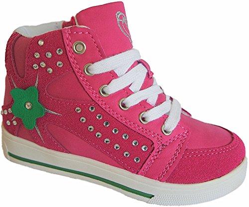 HIGH TOP Sneaker Mädchen Kinder Knöchelschuhe gr.25-36 art.nr.805/06 fuchsia