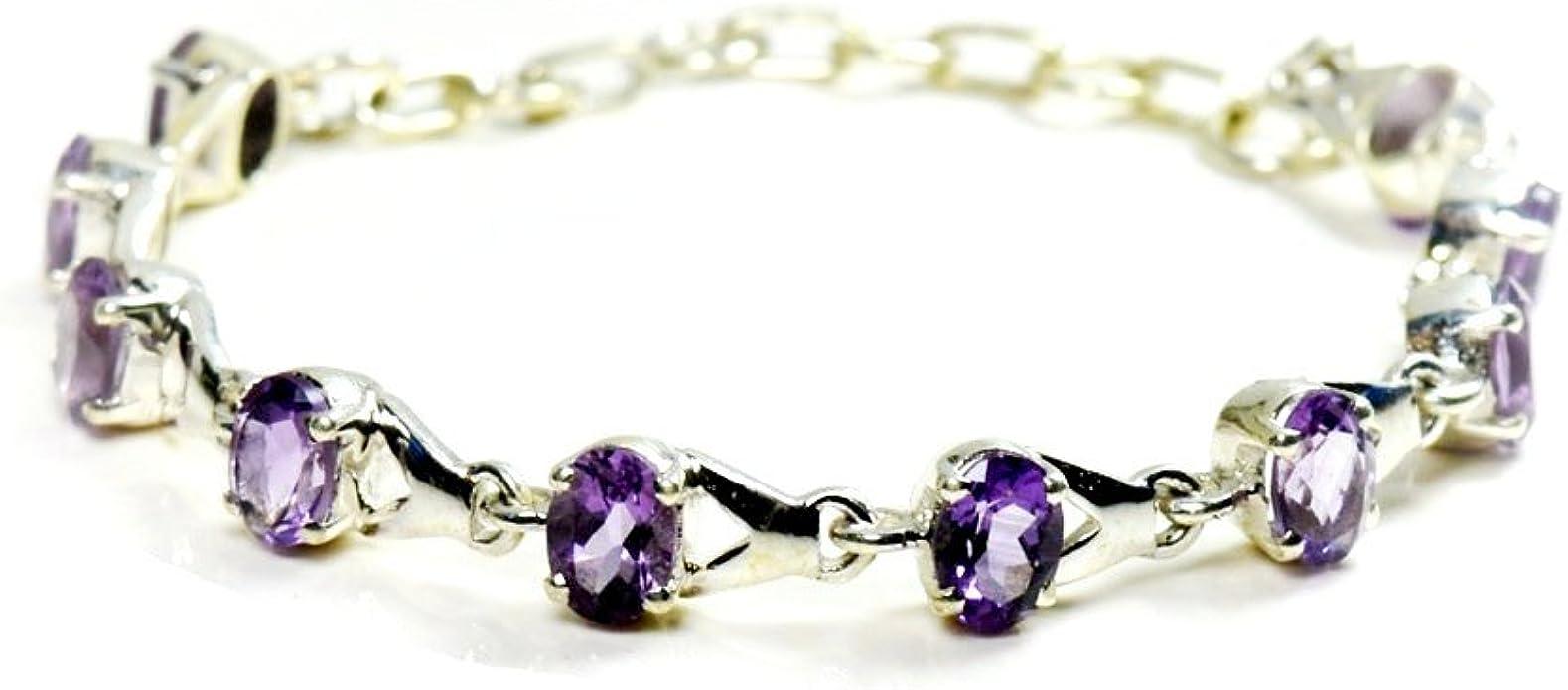 cut amethyst bracelet amethyst bracelet-amethyst silver bracelet-amethyst stone bracelet birth stone bracelet