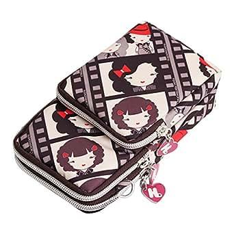 Wiwsi Women Small Cross Wristlet Tote Handbags Shoulder Bag Multifunction Purse(Beauty)