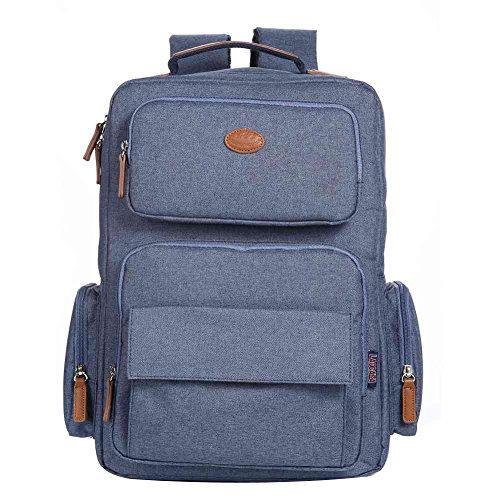 Travel Outdoor Computer Backpack Laptop bag big (blue) - 3