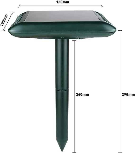 Generador Solar 3 engranajes de energía ultrasónica del reflector del ratón de plagas de animales Serpiente Repelente de sensor generador de accesorios: Amazon.es: Bricolaje y herramientas
