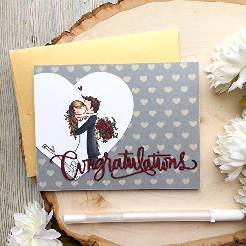 Handmade Wedding Card, Congratulations Card, Gold Wedding Card, Greeting Card, Bride and Groom Cards, Mr and Mrs Card, Handmade Cards, Bride