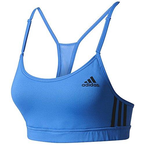 adidas Women's Training 3 Stripe Strappy Bra