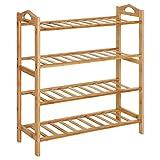 corner kitchen cabinet ideas SONGMICS Bamboo Wood Shoe Rack 4-Tier 12-16 Pairs Entryway Shoe Shelf Storage Organizer ULBS94N