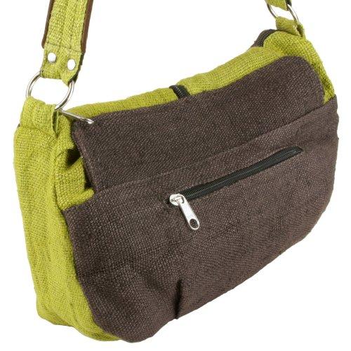 Earth-Divas-MH-133-GRB-Hemp-Double-Flaps-Stud-Stylish-Womens-Shoulder-Handbag-Green-and-Brown