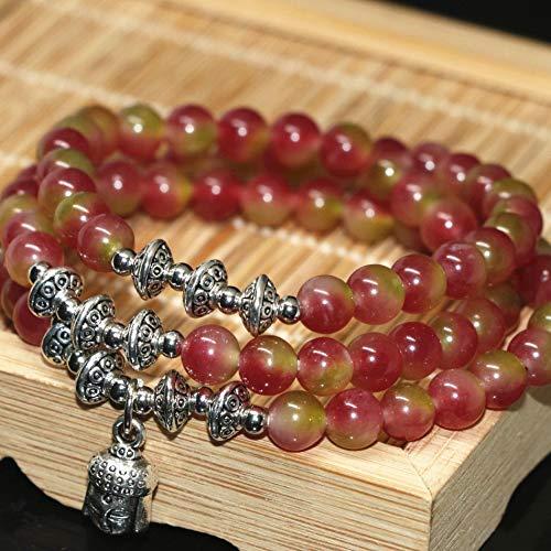 Original Design Multilayer Bracelets | Multicolor Round Jades Chalcedony Natural Stone Beads Buddha Pendants (6mm)