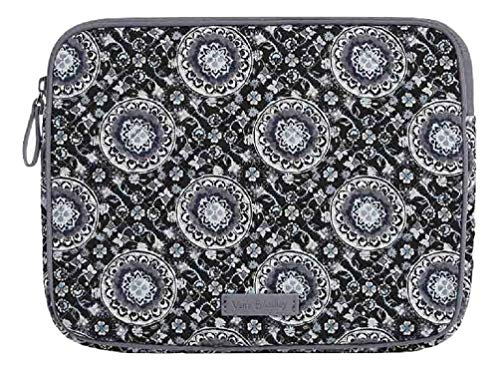 Vera Bradley Iconic Tablet Sleeve in Charcoal Medallion Signature Cotton