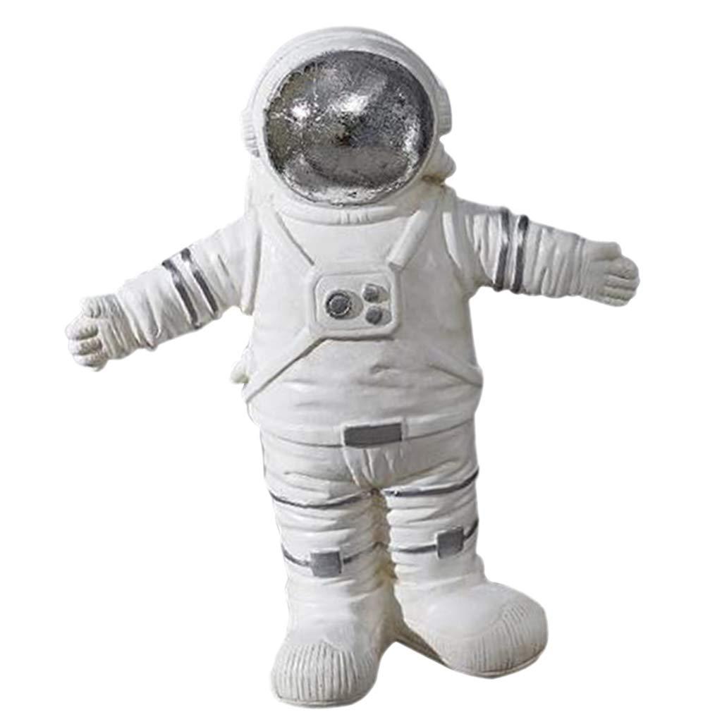 F Fityle Moderne Weltraum Astronaut Statuen Figur Dekofigur Geschenk Ornament A
