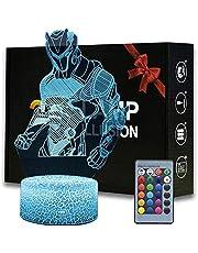 3D Illusion Battle Royale Nachtlampje Game Thema Tafellamp met Afstandsbediening Slaapkamer Decoratie Bureaulamp voor Verjaardag (Skull Trooper) -Omega