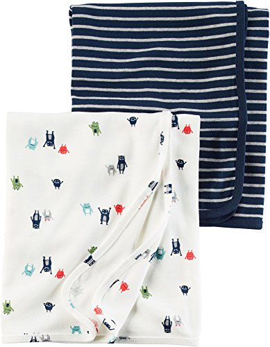 Carter's Baby Boys' 2-Pack Monster Swaddle Blanket One Size by Carter's