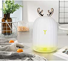 Automatic Shut-Off 7 Color LED Blanc NEWKBO Carino Cerf//Rabbit Ear Portable Home Air Mini USB Humidificateur Aroma Diffuseur Dhuiles Essentielles Pour Chambre Maison De Lit Whisper-Quiet Operation