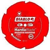 Freud Diablo 10-Inch by 6 Tooth Polycrystalline Diamond Tipped TCG Hardie Fiber Cement Saw Blade 5/8-Inch Arbor Perma-Shield Coated