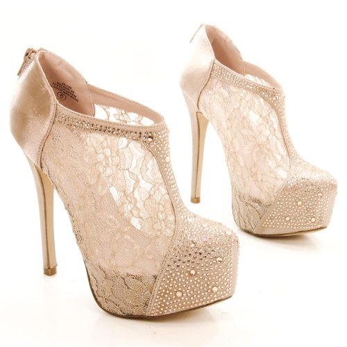Nelson26 Women Rhinestone Stiletto High Heel Platform PumpNelson