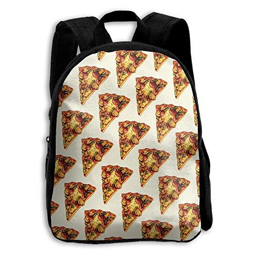 Pepper Mushrooms Ham Pizza Kid Boys Girls Toddler Pre School Backpack Bags Lightweight