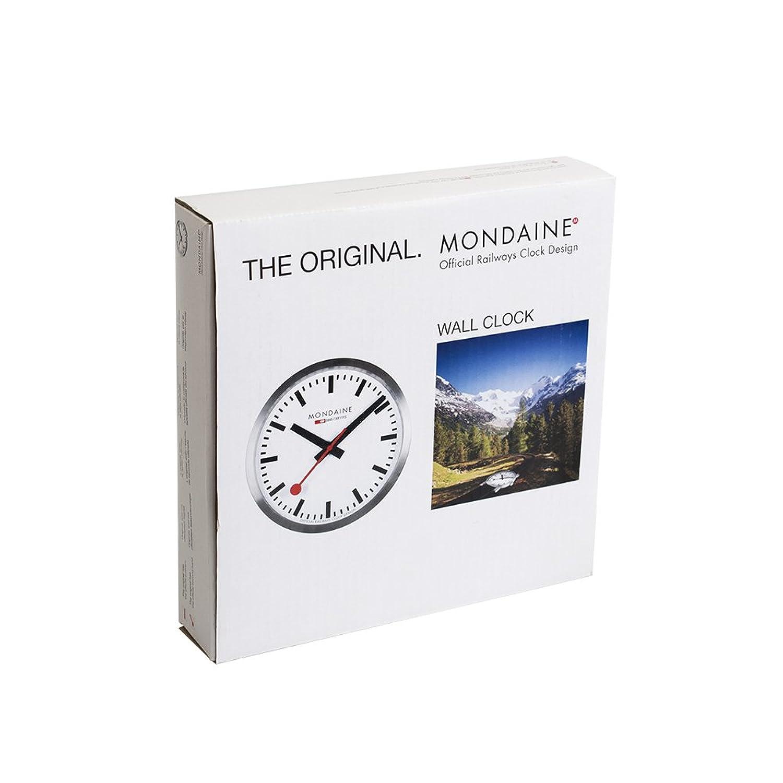 Amazon mondaine a990ock16sbb wall clock white dial clock16sbb wall clock white dial mondaine watches amipublicfo Gallery