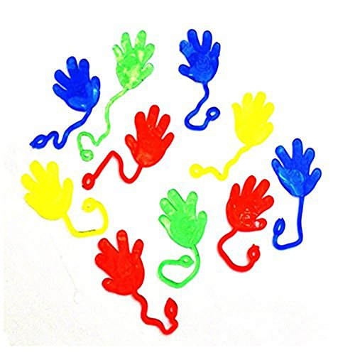 Nostalgic Sticky Fingers, Rubber-sheeting Sticky Hands Wall Climbing Toys, Creative Trick Party Favors, Birthday Parties Toys for Sensory Kids(Color Random) (Fling Toy)