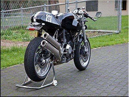 Motorrad R/ückleuchte Chrom Custombikes Retro Cafe Racer