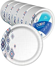 "Dixie Everyday Paper Plates,10 1/16"" Plate, Amazon Exclusive, Dinner Size Printed Disposable P"
