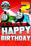 Thomas & Friends Thomas The Tank Engine Age 2 Badge Birthday Card
