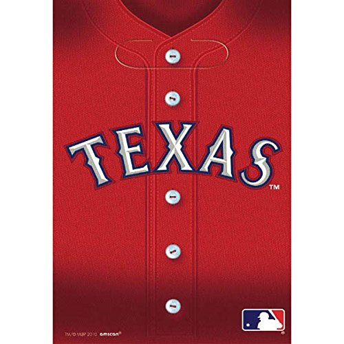 Sports and Tailgating MLB Party Texas Rangers Loot Bags Favours, Plastic, 9' x 6', Pack of 8