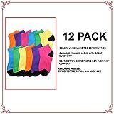Angelina Dozen-Pack COTTON Low Cut Socks #7 is