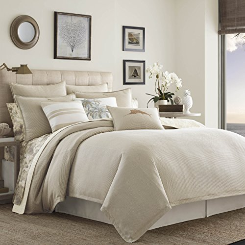 Tommy Bahama Shoreline Comforter Set, California King, Lt/Pastel Brown