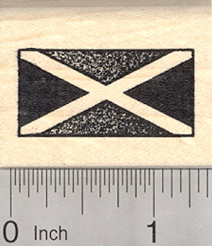 Flag of Jamaica Rubber Stamp, Saltire