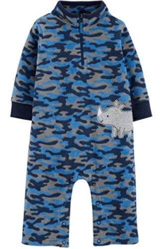 Child of Mine by Carter's Boy's Microfleece Sleep N Play (6/9 Months, Blue Camo Rhino)