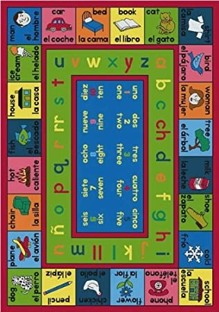 Amazon.com: Educational Spanish LenguaLink Kids Rug Rug Size: Round 132