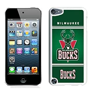 New Custom Design Cover Case For iPod Touch 5th Generation Milwaukee Bucks 10 White Phone Case