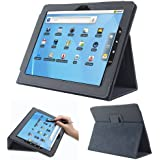 Fosmon OPUS Series Leather Folio Case with Flip Stand for Le Pan I & II, Le Pan S 9.7-Inch Tablet