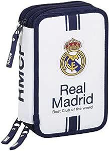 Real Madrid - Plumier Triple 41 Piezas, 1ª equipacion Temporada 2016/2017 (SAFTA 411654057): Amazon.es: Juguetes y juegos