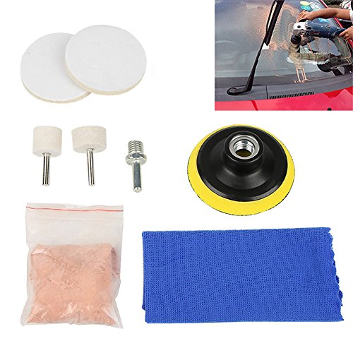 CALAP STORE - 1 Set Universal Car Glass Polishing Kit Practical Auto Car Windscreen Repair Windows Scratch Remover Set New Arrival by CALAP STORE