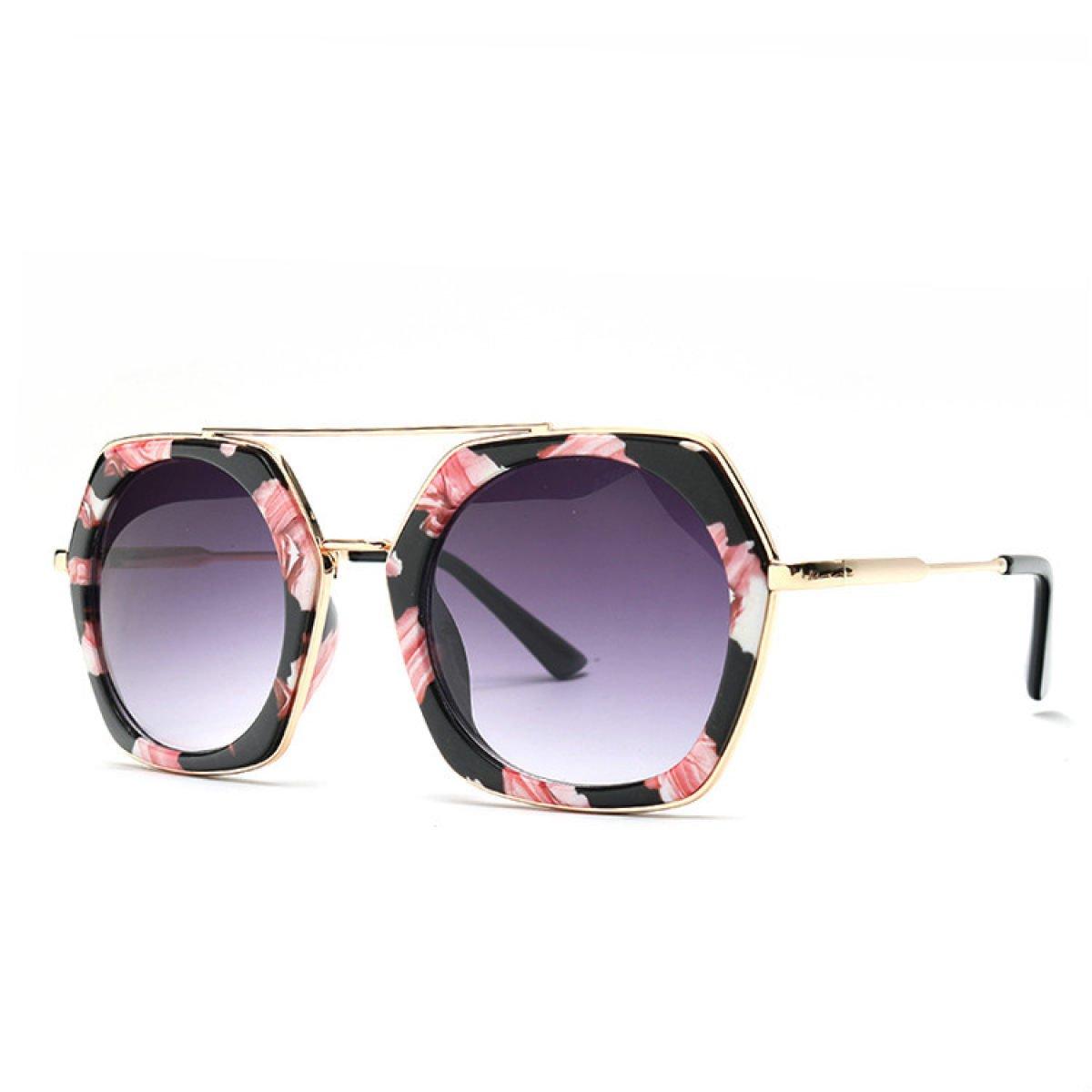 Wkaijc Damen Bunt Metall Rund Box Mode Kreativität Individualität Komfort Sonnenbrille Im Freien Sonnenbrille ,B