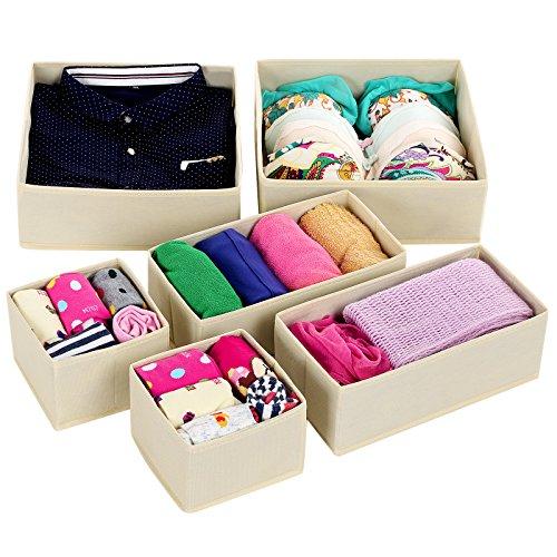 SONGMICS Foldable Underwear Organizer URDB16M