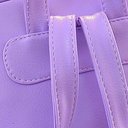 Shoulder Bag Girls School Women Backpack Elevin Rucksack Fashion Travel Leather Satchel TM New Purple Boys wnqUBZ