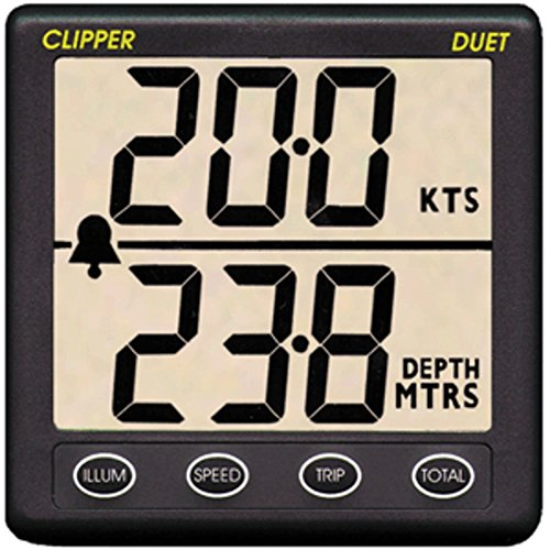 Clipper Duet Instrument Depth Speed Log w/Transducer Marine , Boating ()
