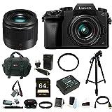 Panasonic Lumix DMC-G7KK Mirrorless Camera w/ 14-42mm f/3.5-5.6 PLUS Panasonic LUMIX G 25mm / F1.7 ASPH. Lens & 64GB SD Card Bundle