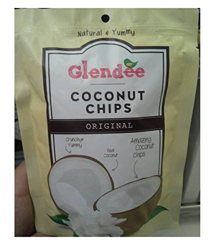 Glendee Toasted Coconut Chips,Original, 1.41 Ounce Bags (Pack of 3). (Fife Plum)