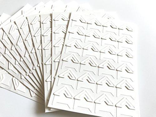 (VEEPPO 240pcs Photo Mounting Corners Self Adhesive Paper for Photo Book Scrapbook (White))