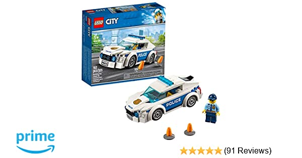 LEGO City Police Patrol Car 60239 Building Kit , New 2019 (92 Piece)