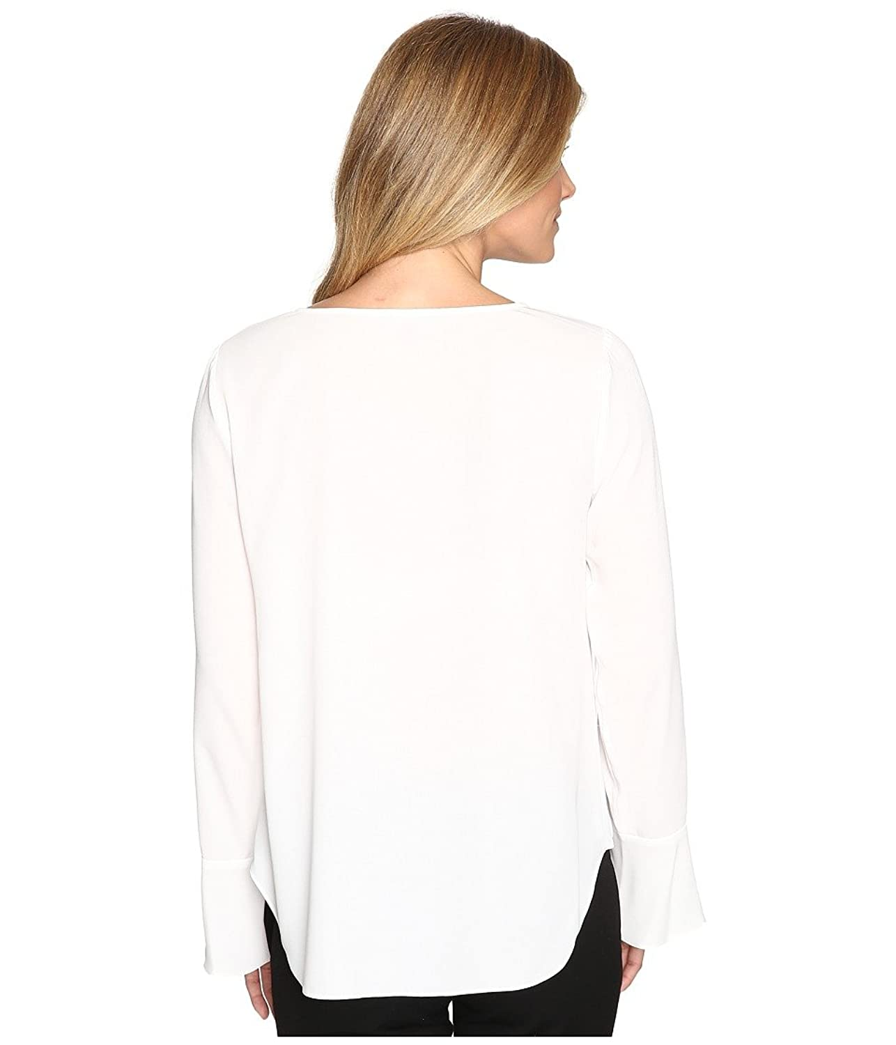 Vince Camuto Womens Flutter-Cuff Fold-Over Blouse