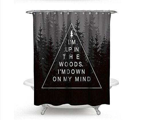 Sykdybz Forest Printed Shower Curtain Polyester Douchegordijn Rideau De Douche 3D Shower Curtain Forest,180X180Cm(72Wx72H Inch)