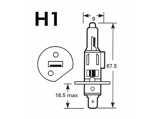 M Tech Ptzsw1 Duo H1 Xenon Halogen Bulb 55 W White Quantity 2