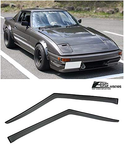 Extreme Online Store for 1978-1985 Mazda RX-7 | EOS Visors Smoke Tinted JDM Tape On Side Window Vent Visors Rain Guard Deflector RX7 RX 7 SA22C FB