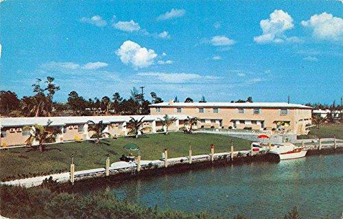 Coral Gables Florida University Court Motel Vintage Postcard - Coral Stores Gables